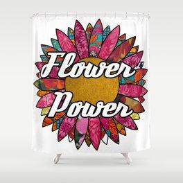 Flower Retro Flower Shower Curtain