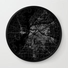 Memphis map Wall Clock