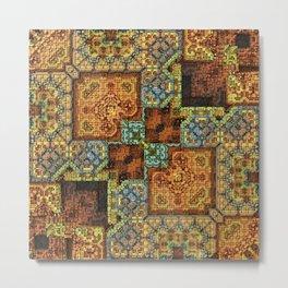 Patchwork Pattern Metal Print