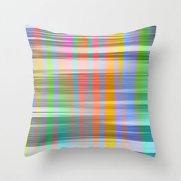 abstract color Throw Pillow