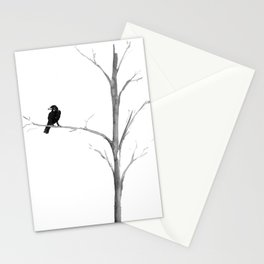 Raven in a Tree Stationery Cards