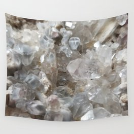 Phantom Crystal Cluster Wall Tapestry