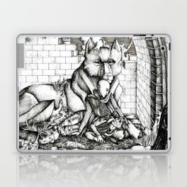 Lovers in the ruins Laptop & iPad Skin