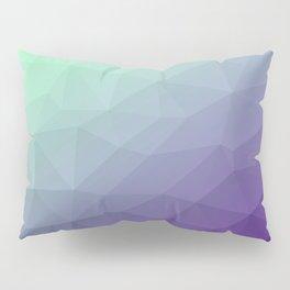 Purple green ombre gradient geometric mesh Pillow Sham