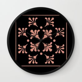 Folkart Flowers Wall Clock