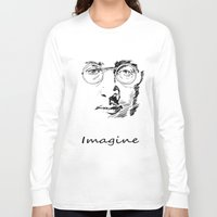 imagine Long Sleeve T-shirts featuring Imagine by Paul Kimble