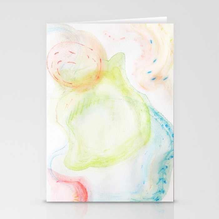 swirling bubbles Stationery Cards