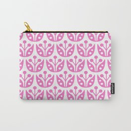 Mid Century Modern Flower Pattern 735 pink Carry-All Pouch