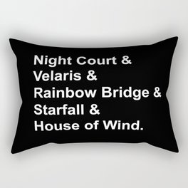 Night Court Places Rectangular Pillow