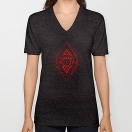 The Eye of Providence is watching you! (Diabolic red Freemason / Illuminati symbolic) Unisex V-Neck