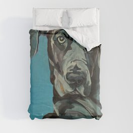 Great Dane Dog Portrait Comforters