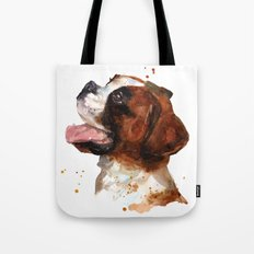 BOXER Dog painting, boxer dog print, dog breeds , cute puppy art Tote Bag