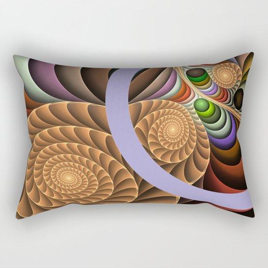Pattern in motion, fractal geometric art Rectangular Pillow