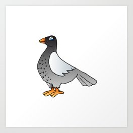 cartoon pigeon. Art Print