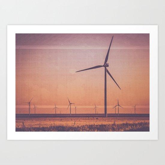 Southwest Windmills Route 66 Art Print