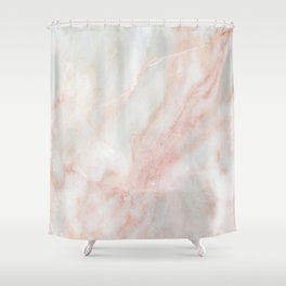 Softest blush pink marble Shower Curtain