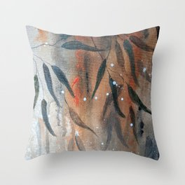 Bushfire Gums Throw Pillow