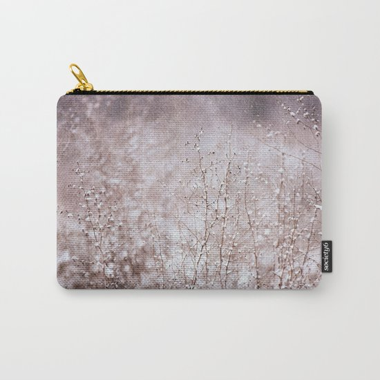 Snowy branches in the rain Carry-All Pouch