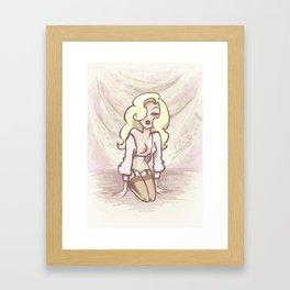 Blonde Framed Art Print
