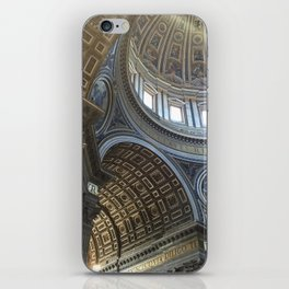 St. Peter's Basilica Ceiling Pattern iPhone Skin