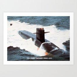 USS JAMES MONROE (SSBN-622) Art Print