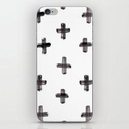 plus sign pattern iPhone Skin