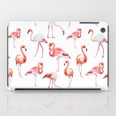 Flamingo Pink Bird Pattern iPad Case