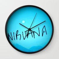 nirvana Wall Clocks featuring Nirvana by SLIDE