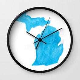 Watercolor Michigan Wall Clock