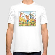 Rain Garden Mens Fitted Tee SMALL White