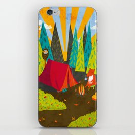 Let's Go Camping iPhone Skin