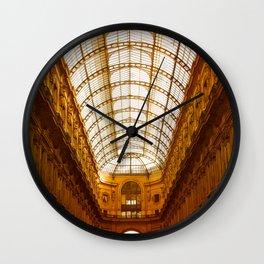 Galleria Vittorio Emanuele II in Milan Wall Clock