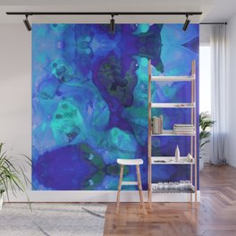 Violet Blue - Abstract Art By Sharon Cummings Wall Mural