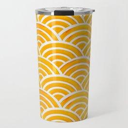Japanese Seigaiha Wave – Marigold Palette Travel Mug