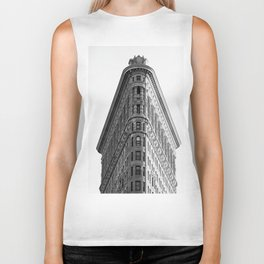 Flatiron Black and White NYC Biker Tank