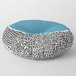 Abstract Blue Lake Floor Pillow