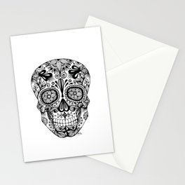 Zentangle - Sugar Skull  Stationery Cards
