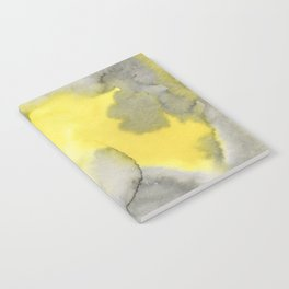 Hand painted gray yellow abstract watercolor pattern Notebook