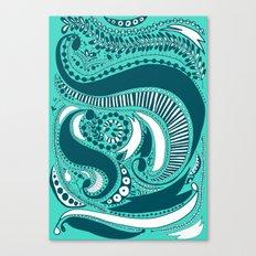 Majorie Blue Canvas Print