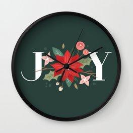 Joy Flourish - Pine Wall Clock