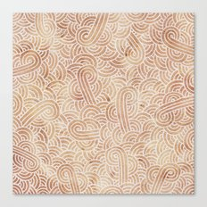 Iced coffee and white swirls doodles Canvas Print