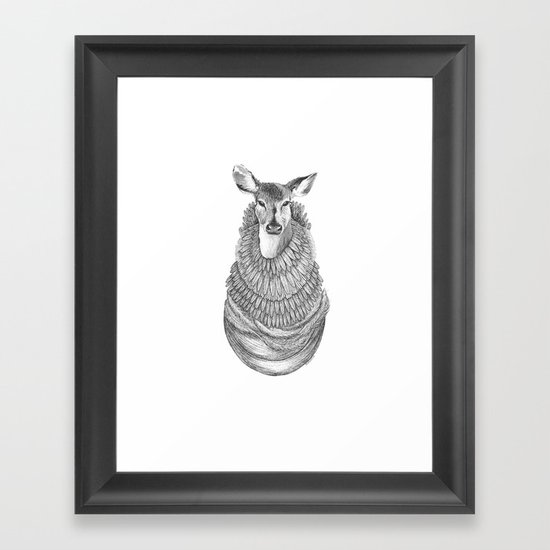 Feathered Deer.  Framed Art Print
