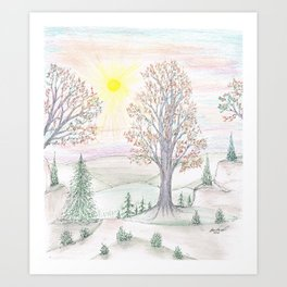 Paths to the Sunny Side Art Print