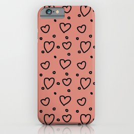 Pink Hearts iPhone Case