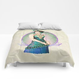 Peacock Gown Comforters