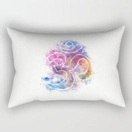 OM Symbol Watercolor Art Rectangular Pillow