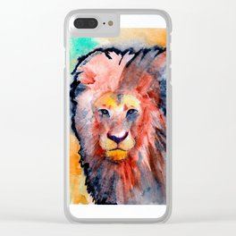 colorful lion Clear iPhone Case