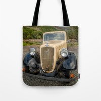 austin Tote Bags featuring Austin 7 by Adrian Evans