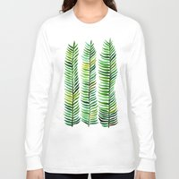 watercolor Long Sleeve T-shirts featuring Seaweed by Cat Coquillette