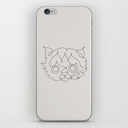 One Line Cat iPhone Skin
